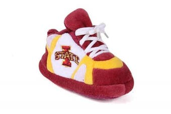 (Iowa State Cyclones) - Happy Feet Baby Slippers - up to 9 Months - Officially Licenced