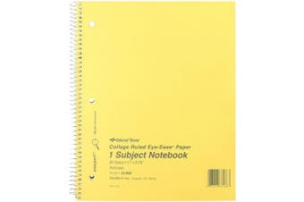 NATIONAL Brown Board Cover Notebook, College ruled, Green Paper, 28cm x 22cm , 80 Sheets (33068)