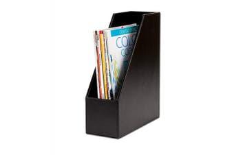 (black) - Dacasso Bonded Magazine Rack, Black