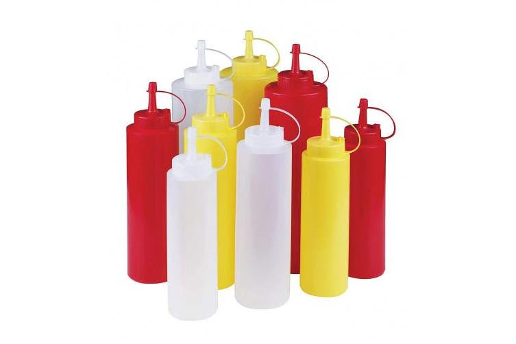 (470ml, Yellow) - Paderno World Cuisine 470ml Squeeze Bottle, Polyethylene, Yellow