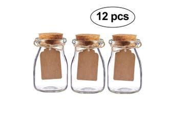Awtlife 12pcs Vintage glass Favour Jar with Cork Lids for wedding Baby shower favour
