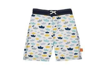 (18 Months, Paper Boat) - Lassig Board Shorts, Paper Boat, 18 Months