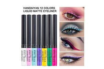 (12PCS) - Coosa Matte Colourful Liquid Eyeliner [12Colors] Long Lasting Waterproof Eyeliner Professional Bright-coloured Eyeliner Pen Set - 12 PCS