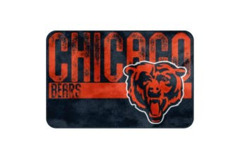(Chicago Bears, One Size, Multicolor) - The Northwest Company NFL Unisex-Adult Embossed Memory Foam Rug