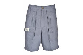 (32, Blue) - Bimini Bay Outfitters Men's Outback Hiker Cotton Cargo Short