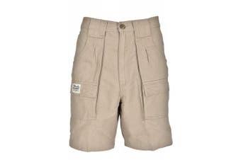(32, Khaki) - Bimini Bay Outfitters Men's Outback Hiker Cotton Cargo Short