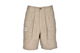 (36, Khaki) - Bimini Bay Outfitters Men's Outback Hiker Cotton Cargo Short