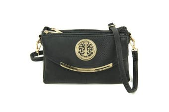 (Black) - Craze London NEW Womens Small Clutch Bags with Wristlet and Long Adjustable Strap,Adjustable strap With Purse or small Shoulder bag