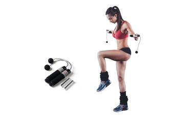 (Cordless Jump Rope with 170g Weighted) - Ueasy Weighted Ropeless Jump Rope Length Adjustable Skipping Rope Tangle Free No Fray No Hurt No Tripping for You and Your Children