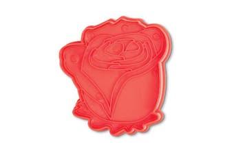 (Rose Plunger Cutter) - Bakelicious 73820 Rose Plunger Cutter, Red