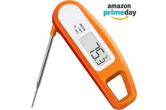(Orange) - Lavatools PT12 Javelin Digital Ultra Fast Instant Read Meat Thermometer for Kitchen, Outdoor Grilling, BBQ, Brewing, and Frying (Orange)
