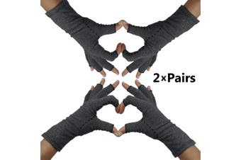 (Small) - Fingerless Arthritis Compression Gloves – Help Sore Swollen Hands and Fingers. Relief from Rheumatoid Joints or Carpal Tunnel Pain, Fits Women and Men. Warms Knuckles and Supports Wrists (Small)