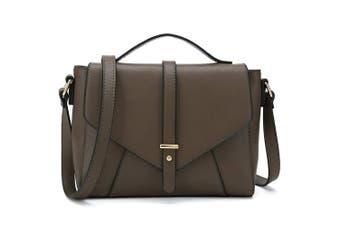 (Coffee) - Medium Sized Crossbody Purse for Women Designer Shoulder Bags Ladies Handbags