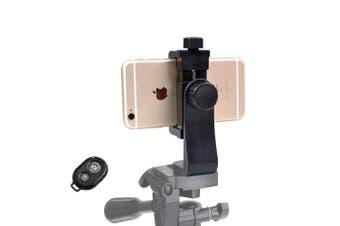 Jelkuz iPhone Tripod Mount Cell Phone Adapter +Remote Shutter Smartphone Holder Clip for iPhone X 8 7 6 6s plus Samsung Nexus