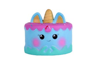 (Mini Blue) - Anboor 11cm Squishies Unicorn Cake Mousse Kawaii Slow Rising Scented Squishies Kids Toy for Gift Collection
