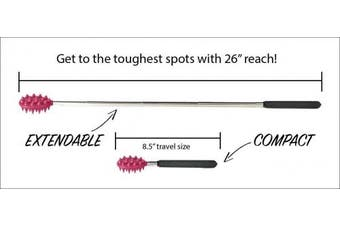 (Stick, Pink) - Cactus Back Scratcher On a Stick (Pink) | 70cm Sturdy Metal Retractable Back Scratcher | 2 Sides: Aggressive and Soft Spikes | Scratching Stick: Perfect for Men or Women, Great Office Gift …