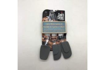 (Gray) - Cook's Corner 3-Piece Mini Spatula Set (Grey)