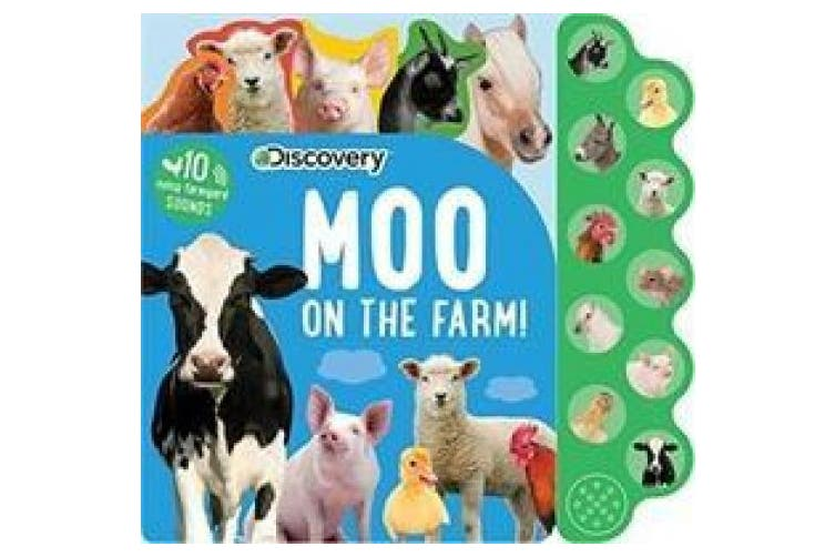 Discovery: Moo on the Farm! (10-Button Sound Books) [Board book]