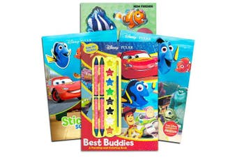 (3 Books (Pixar Super Set)) - Disney Pixar Colouring and Activity Book Super Set ~ 3 Pixar Books with Stickers, Paint and Crayons (Featuring Cars,Toy Story, Finding Nemo and More)