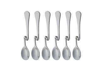 (Vertical Hanging S) - Set of 6 Hanging Coffee Spoon Creative Bending Handle Stainless Steel Stirring Spoons for Tea Coffee Dessert (Vertical Hanging S)