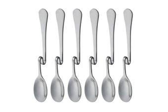 (Vertical Hanging L) - Set of 6 Hanging Coffee Spoon Creative Bending Handle Stainless Steel Stirring Spoons for Tea Coffee Dessert (Vertical Hanging L)