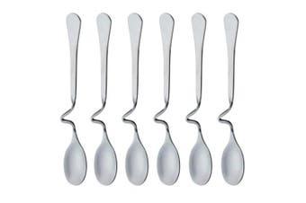 (Horizontal Hanging L) - Set of 6 Hanging Coffee Spoon Creative Bending Handle Stainless Steel Stirring Spoons for Tea Coffee Dessert (Horizontal Hanging L)