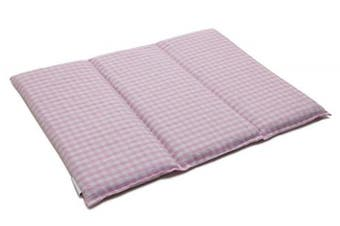 (Currant seeds) - Currant seeds cushion   40cm x 30cm   3 chambers   rose and white   Cotton bio   Thermic cushion   Grain cushion