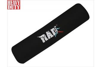 (Black) - RAD Heavy Duty Barbell Pad Squat - Neck and Shoulder Protective Pad - Protective Barbell Pad Size 41cm long, 8.9cm Diameter