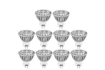 (Warm White 2700k) - AGOTD MR11 LED Bulb GU4 12V, 35X38mm(1.38x1.49 inch),3W Spot Light, 20W 35W Halogen Bulb Equiv,GU4 Base,Warm White 2700K,250 Lumen,38 Degree, Pack of 10