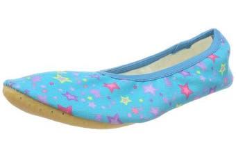 (6 UK Child, Türkis (Türkis 08)) - Beck Girls' Sternchen Gymnastics Shoes, Turquoise