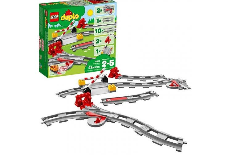 (23 pcs, Multicolor) - LEGO DUPLO Train Tracks 10882 Building Blocks (23 Piece)