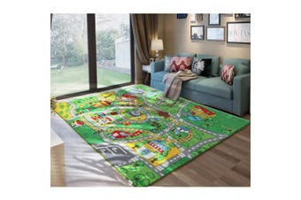 JACKSON 130cm X 190cm Extra-Thick,Extra-Large Kid Rug Playmat For Babies, Toddlers and Kids ,City Play Rug for Toy Cars and Trucks with Non-Slip Backing,No Chemical Smell, Safe And Fun Crawl Mat for Children