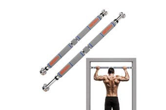 (Gray) - OneTwoFit Pull Up Bar Doorway Chin Up Bar Household Horizontal Bar Home Gym Exercise Fitness
