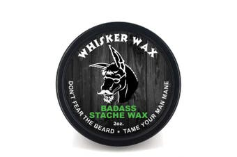 Badass Beard Care Moustache Wax For Men, 60ml - Made with All Natural Butters and Waxes, Medium Hold, Keeps Moustache Looking and Feeling Natural and Soft by Badass Beard Care