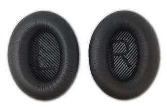 (QC35, Black) - Aminori - Replacement Earpads Ear Cushion for Bose Quiet Comfort 35 QC35 Headphones (Black)