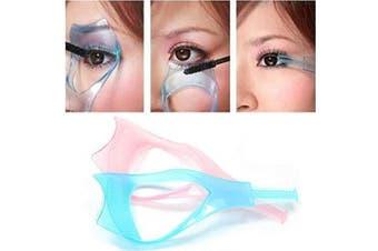 2 Pcs Plastic Makeup Eyelash Tool Upper Lower Eye Lash Mascara Guard Applicator Guide with Eyelash Comb Eye Makeup Tool for Women Lady Girls (Colour Ship at Random)