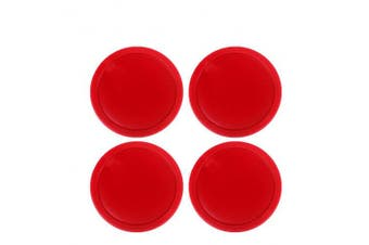 Ellen Tools Set of 4 Red Home Standard Air Hockey Pucks - Large Size for Adults 2.95 inches, 75mm