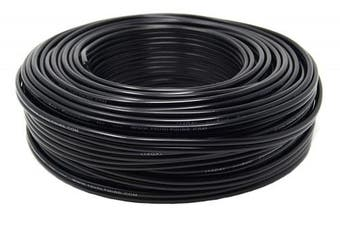 14 Gauge 30m Black Stranded 2 Conductor Copper Clad Speaker Wire Car Audio