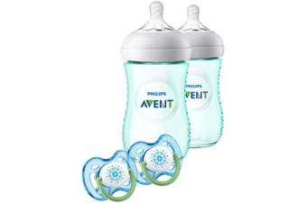 Philips Avent Natural Baby Bottle Teal Gift Set SCD113/24