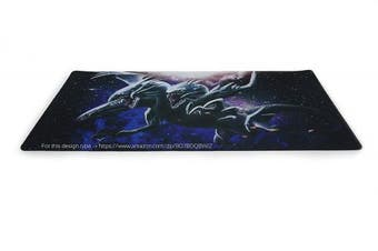 (BlueEyesWhite) - Yo-gi-oh Custom Blue Eyes White Dragon Playmat Large Mouse Pad & Table Mat Blue Eyes Dragon | Size 60cm x 34cm (AArt TM)