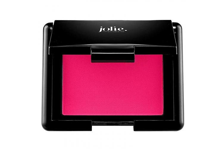 (Super Fuchsia) - Jolie Blush Perfect Pressed Cheek Colour, Highly Pigmented Long-Lasting Intense Colour, Picture Perfect Finish, (Super Fuchsia)
