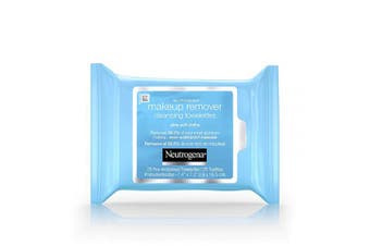 (Pack of 1) - Neutrogena Makeup Remover Facial Cleansing Towelettes, Daily Face Wipes to Remove Dirt, Oil, Makeup & Waterproof Mascara, Gentle, Alcohol-Free, 25 ct