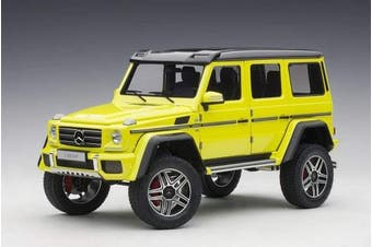 Mercedes Benz G500 4X4 2 Electric Beam/Yellow 1/18 Model Car by Autoart 76319