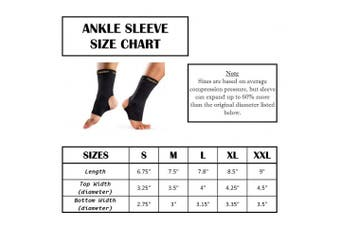 (Medium) - CopperSport Copper Compression Ankle Sleeve Support - Suitable for Athletics, Tennis, Golf, Basketball, Sports, Weightlifting, Joint Pain Relief, Injury Recovery (Single Sleeve)