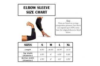 (X-Large) - CopperSport Copper Compression Elbow Sleeve Support - Suitable for Athletics, Tennis, Golf, Basketball, Sports, Weightlifting, Joint Pain Relief, Injury Recovery (Single Sleeve)
