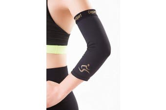 (Large) - CopperSport Copper Compression Elbow Sleeve Support - Suitable for Athletics, Tennis, Golf, Basketball, Sports, Weightlifting, Joint Pain Relief, Injury Recovery (Single Sleeve)