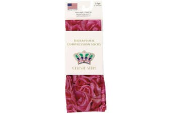 (Sweetheart Roses) - Celeste Stein Therapeutic Compression Socks, Sweetheart Roses, 8-15 mmhg, 1-Pair