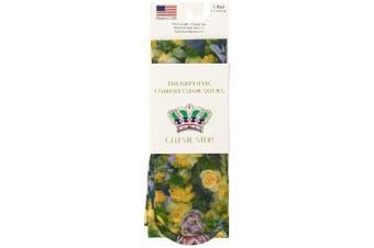 (Multi Lil Floral) - Celeste Stein Therapeutic Compression Socks, Multi Lil Floral, 8-15 mmhg, 1-Pair