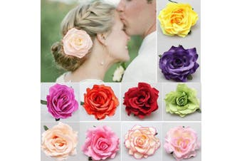 Flower Hairpin,Flower Brooch 10pieces Multicolor Rose Hair Barrette Accessories for Women Girls Party Beach Wedding