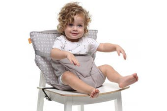 (White Stars) - Baby-to-Love Pocket Chair, Toddler Portable High-Chair Seat Cover for Travel (White Stars)